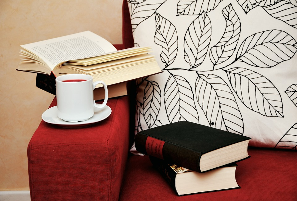 Hygge with books and a cup of tea in Danish culture