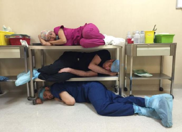 sleep deprivation of doctors